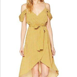 2f9339d79728 ... J.O.A. Cold Shoulder Wrap Dress Yellow Mustard ...